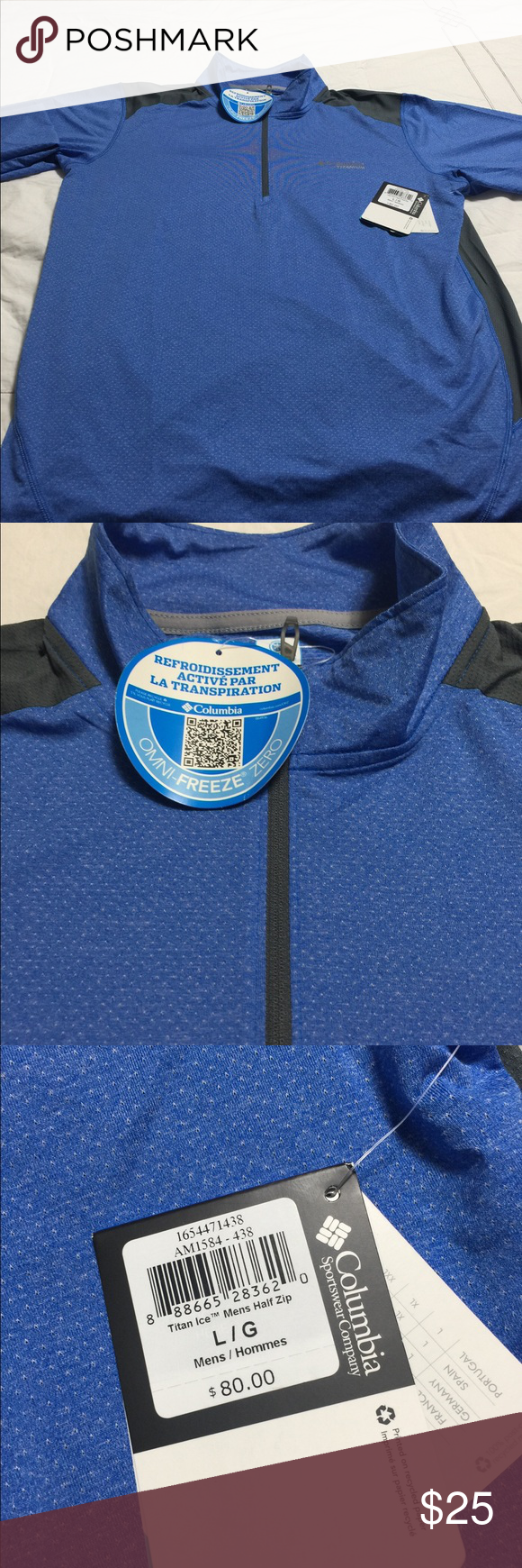 Columbia ultra half zip running shirt men s BRAND  Columbia CONDITION  New  with tags d896d8668
