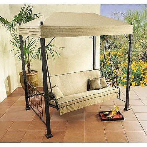Garden Winds Gazebo Canopy Swing With Images Patio Swing