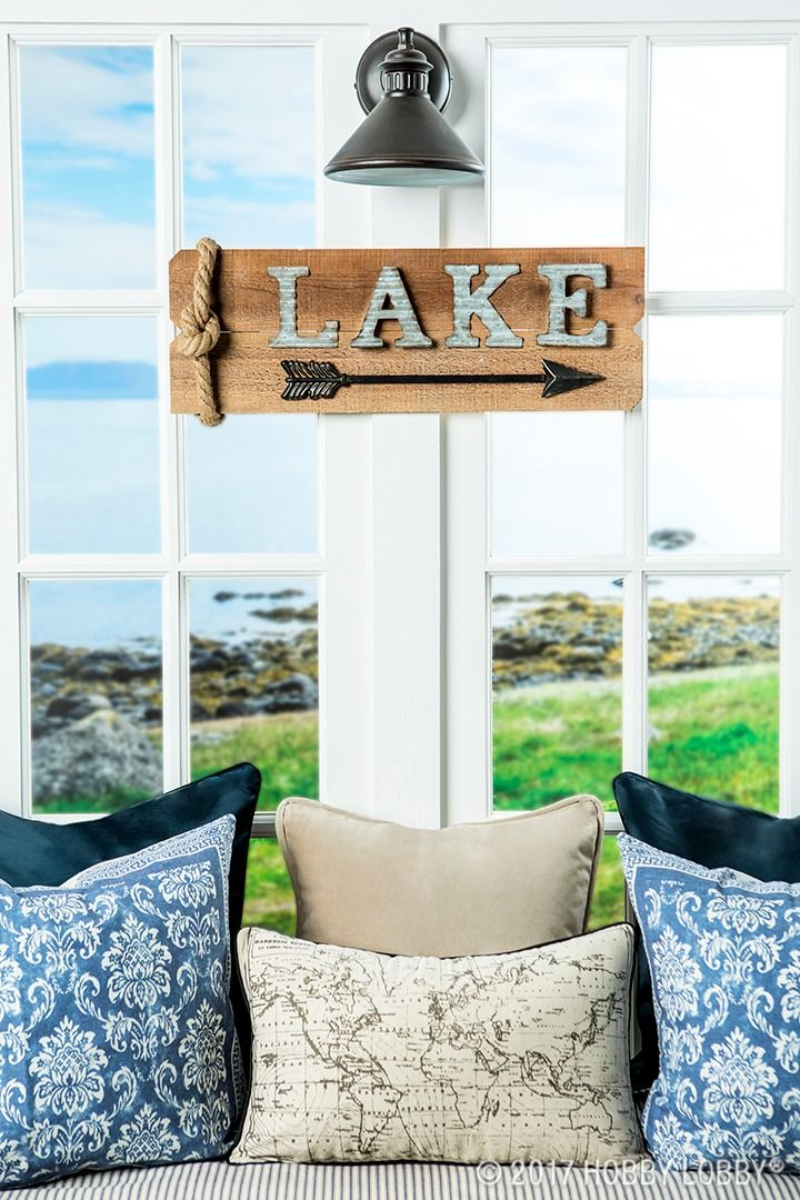 Channel summertime vibes with lake themed decor summer for Lake themed decor