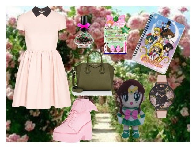 """""""Sailor Jupiter on way to find the love"""" by lujzazsu ❤ liked on Polyvore featuring Miu Miu, Iron Fist, Givenchy, Olivia Burton, GE and SailorJupiter"""