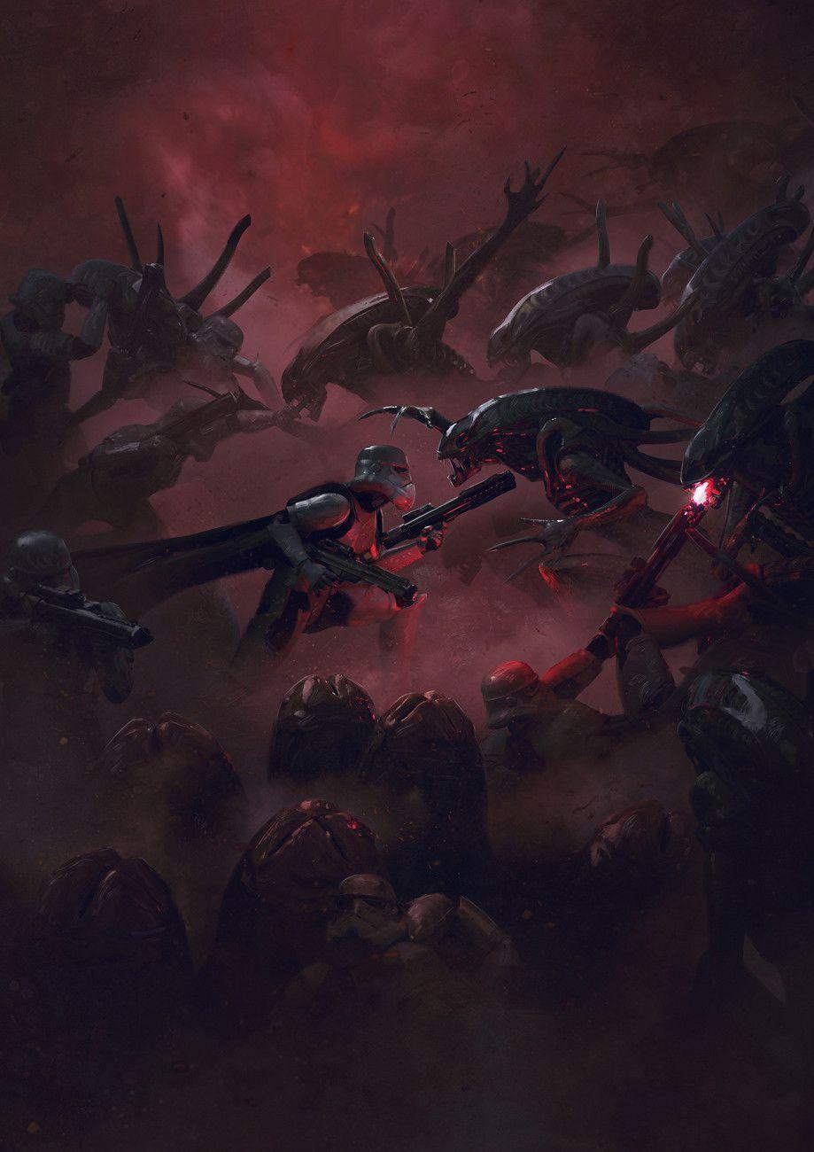 501st Legion: Vader's Fist VS Space Cockroaches  6, Guillem H. Pongiluppi on ArtStation at https://www.artstation.com/artwork/kL1P0