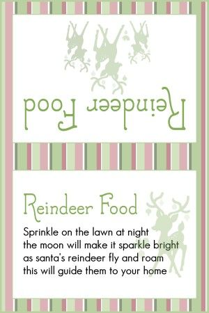 Animal Safe Magic Reindeer food and free printable labels - Mum In The Madhouse