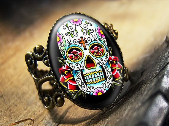 Dia De Los Muertos Traditional Day of the Dead by KasketKustoms.I love this it is beautiful.