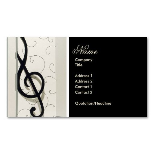 Pin On Music Business Cards