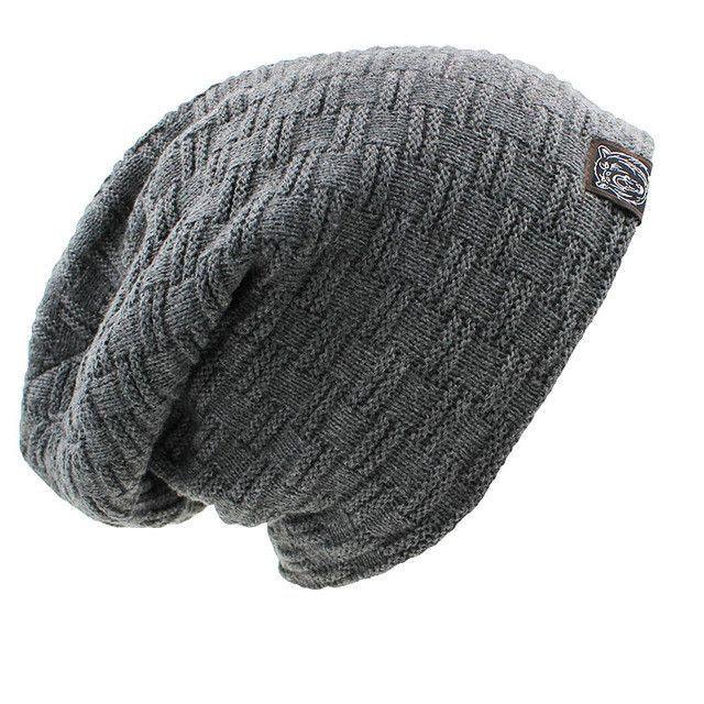 4dee1e36ee5 LOVINGSHA Solid Design Skullies Bonnet Winter Hats For Women Men Beanie  Men s Faux Fur Warm Baggy Knitted Knit Winter Hat Caps