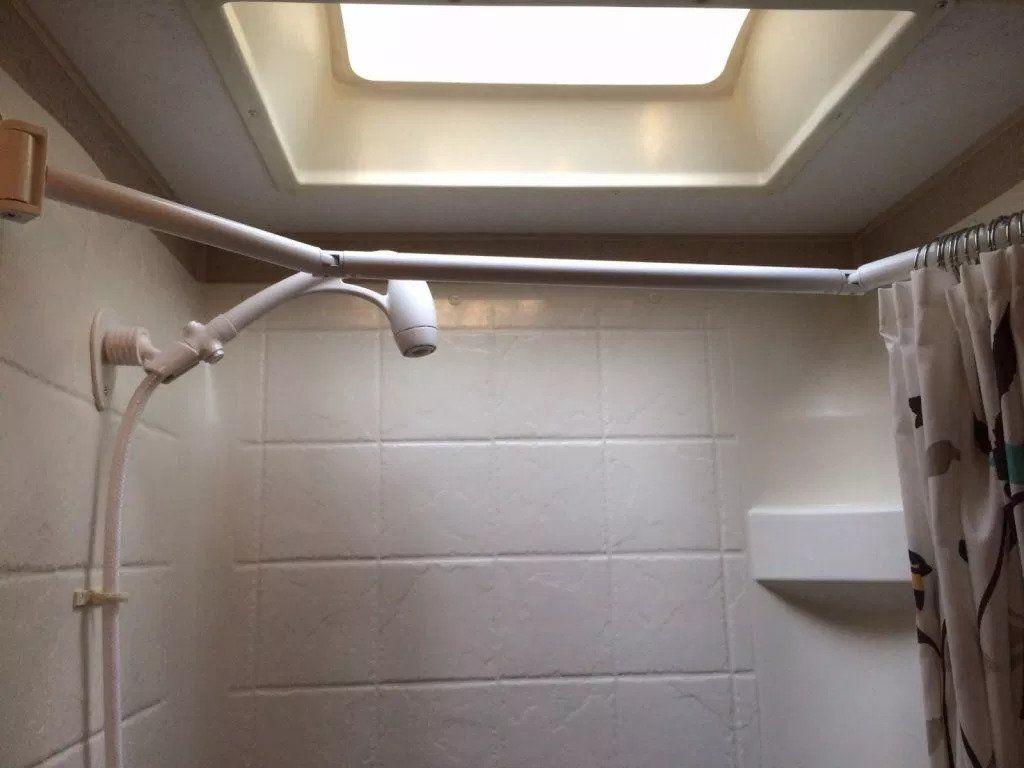 6 Easy Ways To Upgrade Your Rv Shower Rv Bathroom Shower Rod