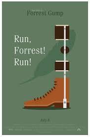 Forrest Gump Minimal Movie Poster Forrest Gump Movie Posters