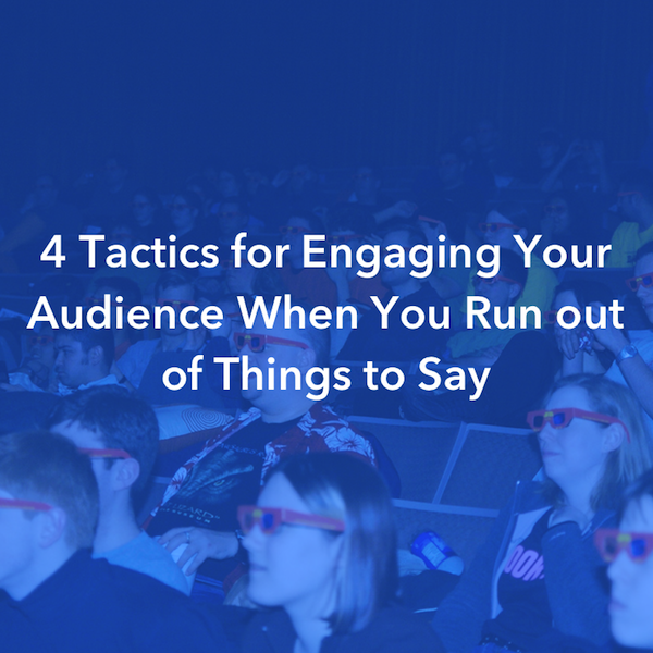 Social media tips for filmmakers: 4 tactics for talking to your audience when you run out of things to say