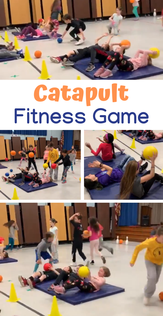 Thanks to PE teacher Lindsay Karp for sharing this Catapult game from her Health  Wellness Week This activity allows students to learn various fitness components Source l...