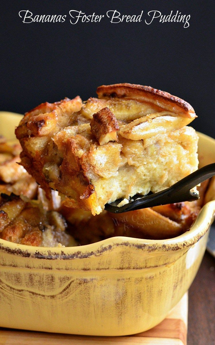 Heavenly Bananas Foster Bread Pudding