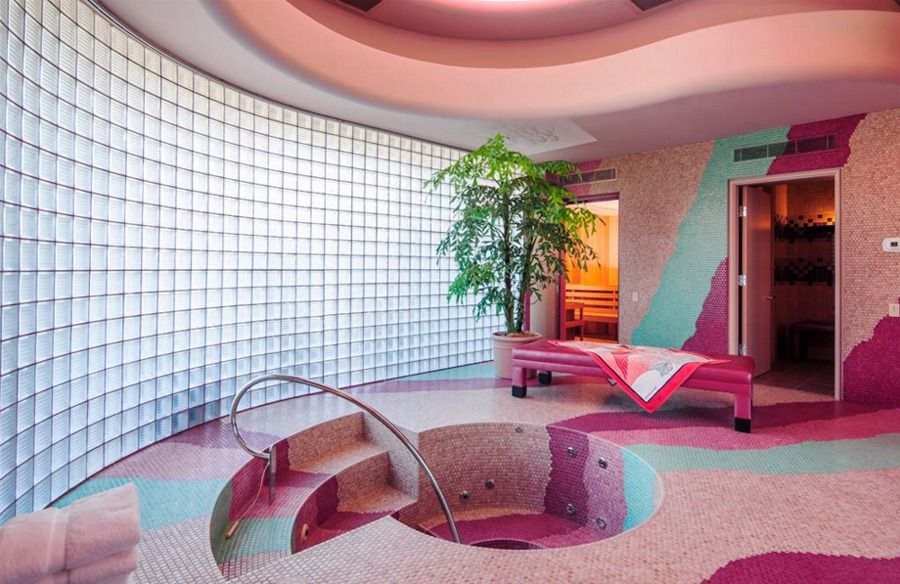 Honey get your head out of the oven  sleazeburger ummm this  deco neon mansion also rh pinterest