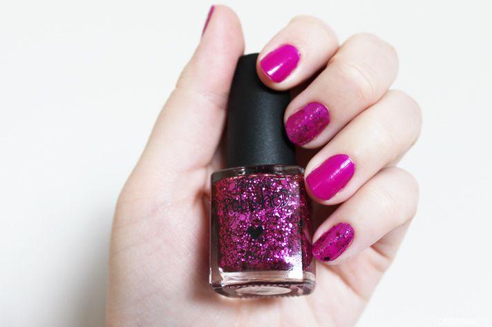 NOTD // Kleancolor Grape Burst + Factorie Moulin Rouge Glitz - CassandraMyee