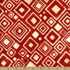 By the Yard Color Source Batik Robert Kaufman Cotton Fabric AMD-13110-3 Red