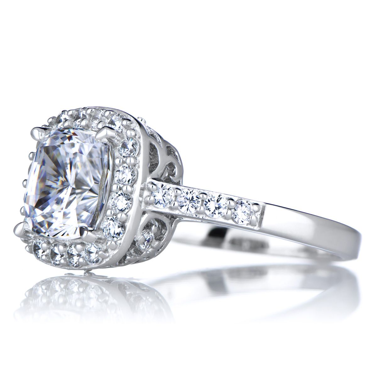 Сushion Сut Cubic Zirconia Engagement Rings