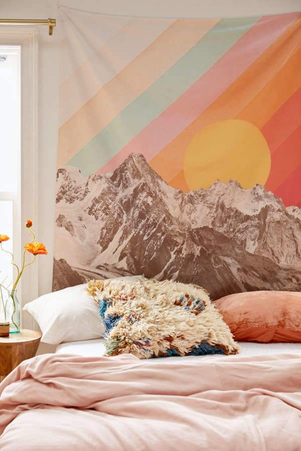 Deny Designs Florent Bodart For Deny Mountainscape I Tapestry images