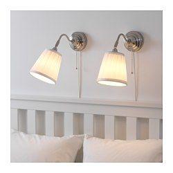 ÅRSTID Vägglampa, förnicklad, vit IKEA   Wall lamp, Wall