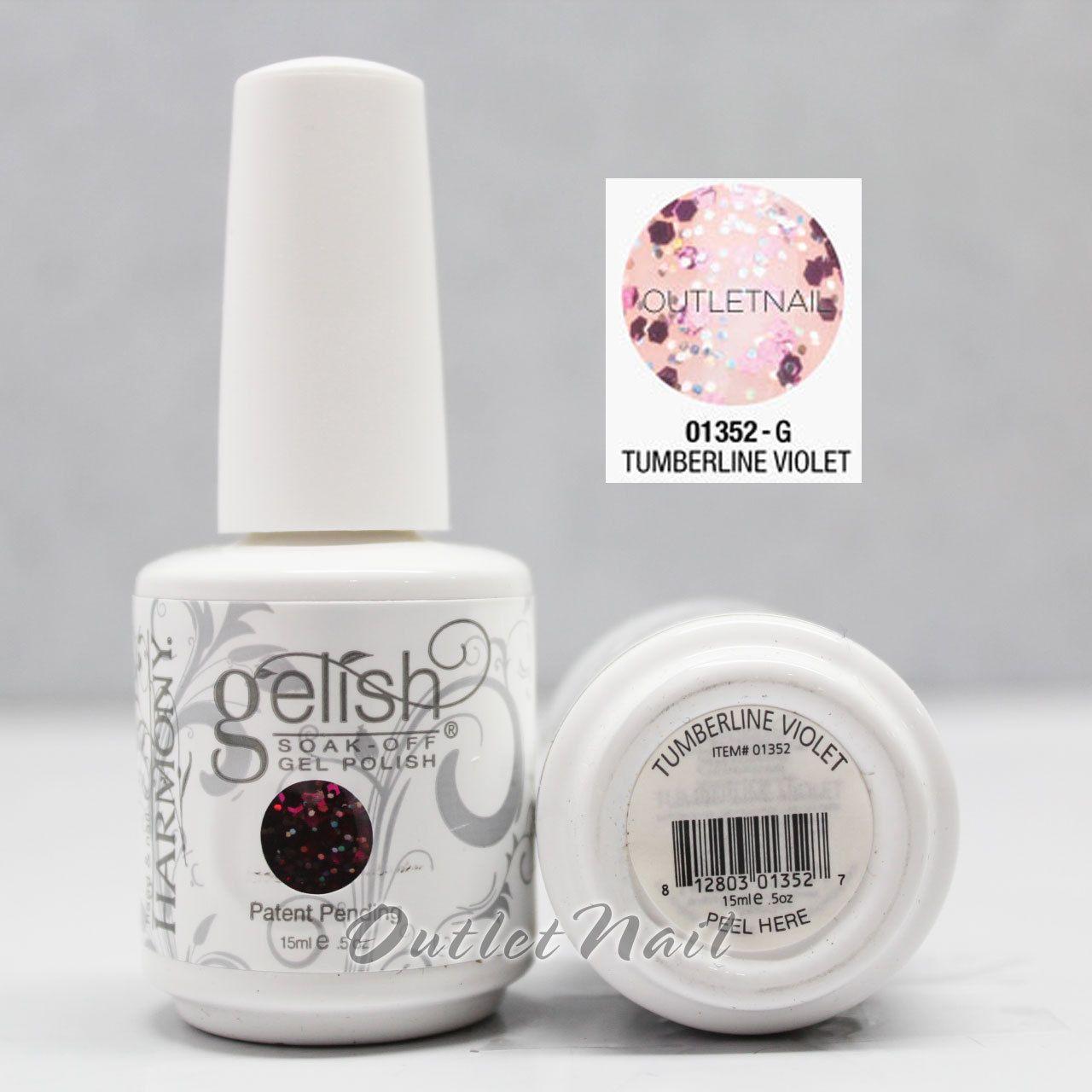 Gelish harmony part a soak off gel nail polish set uv nail pick