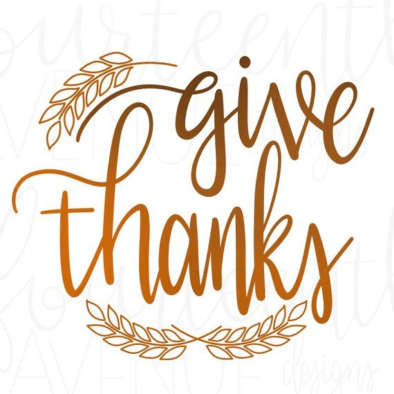 42+ Give Thanks – Svg File PNG