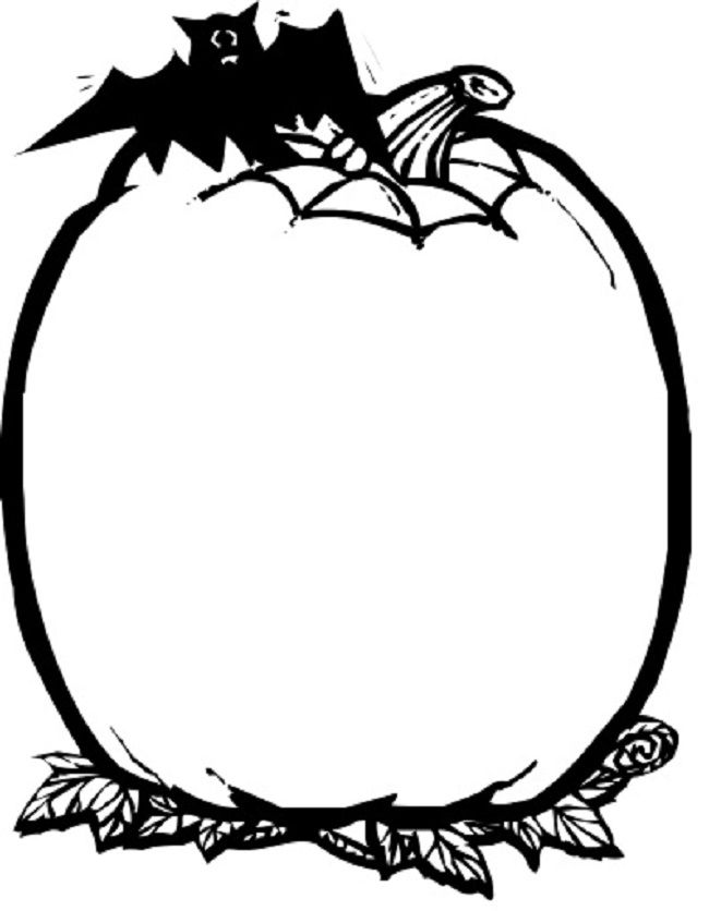 free coloring pages blank pumpkins