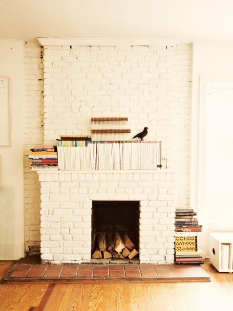 15 Painted Brick Fireplaces That Radiate Coziness Painted Brick Fireplaces White Brick Fireplace Brick Fireplace