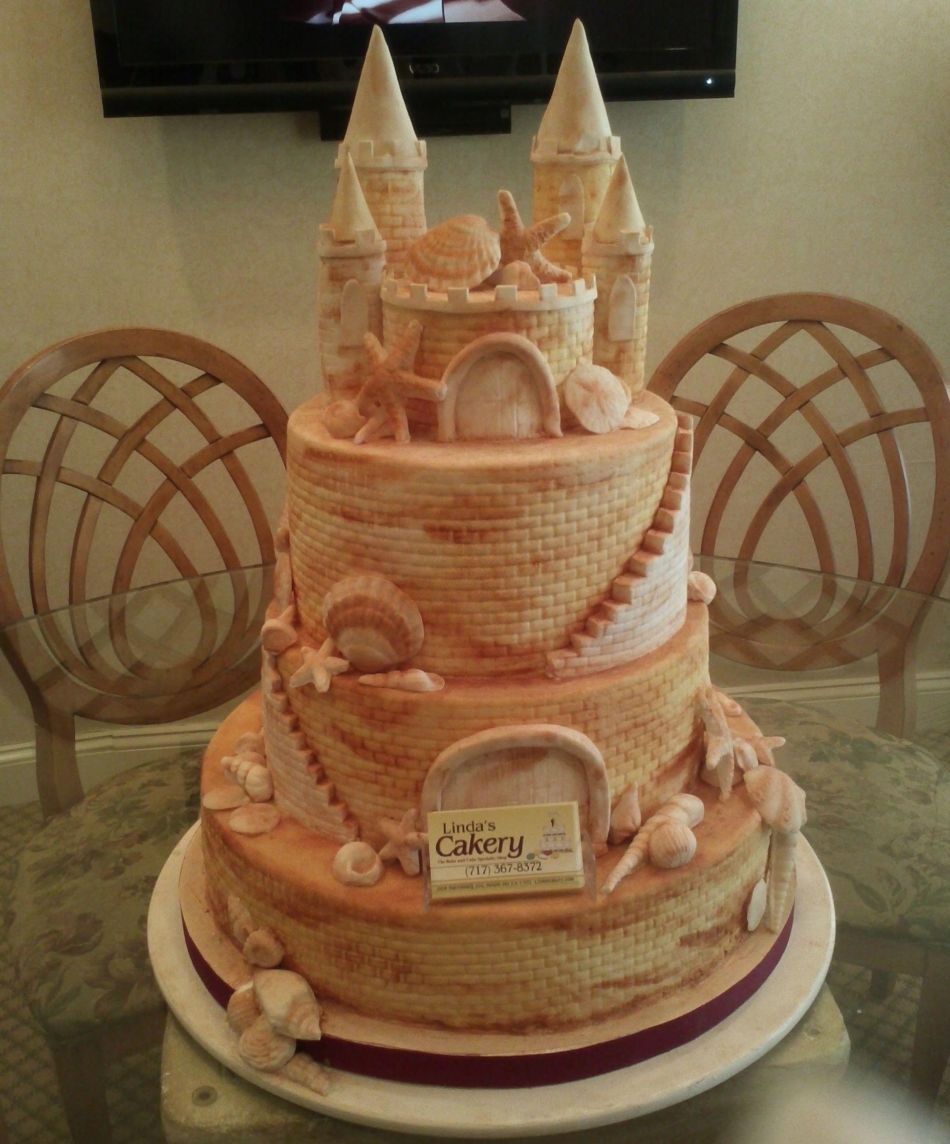 Fabulous sandcastle cake lindas cakery castle