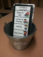 Daily Five Bookmarks to keep Children on track and moving through the stations...