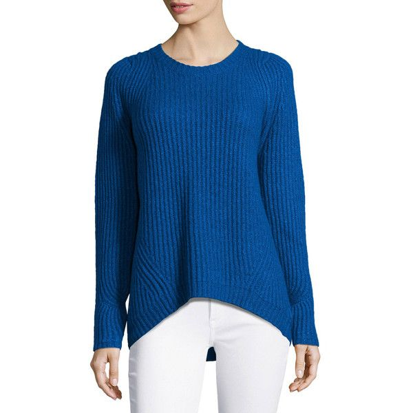 Halston Heritage Long-Sleeve Ribbed Sweater (18.190 RUB) ❤ liked ...