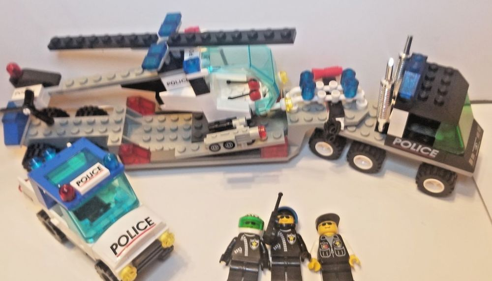 Lego Vintage 1990 City Helicopter Truck Surveillance Police