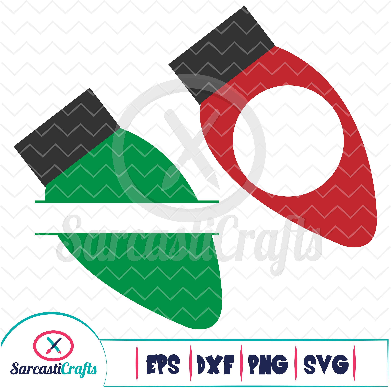 Christmas Lights Monogram Frames Holiday Graphic Digital Etsy In 2020 Monogram Frame Christmas Lights Cricut