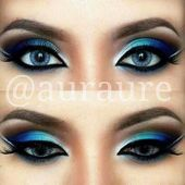 Photo of #Eyes #eyesMakeupIde #blue #simple # for #painting