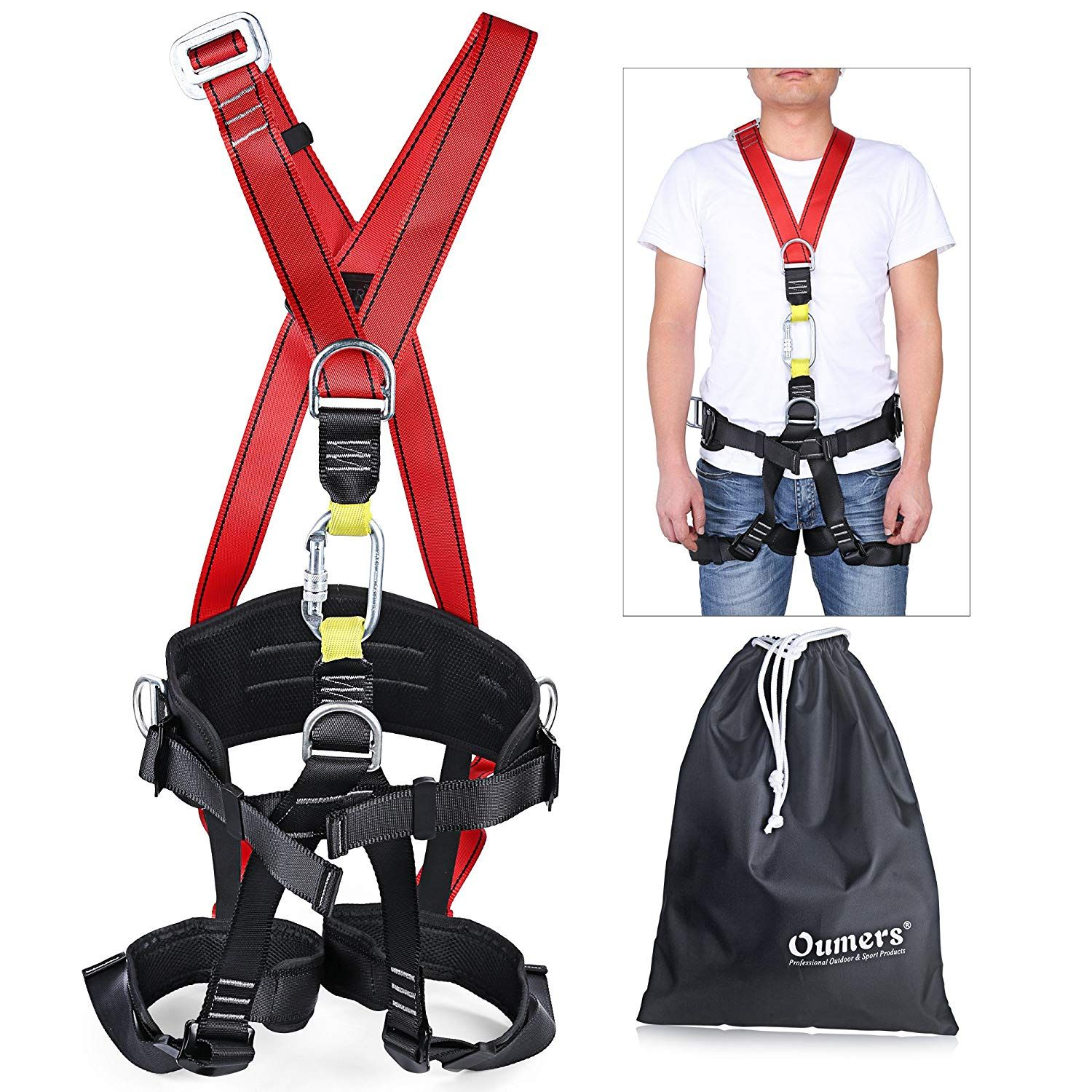 Zipline Fall Protection Sling Loop Rope for Outdoor Rock Climbing Harness