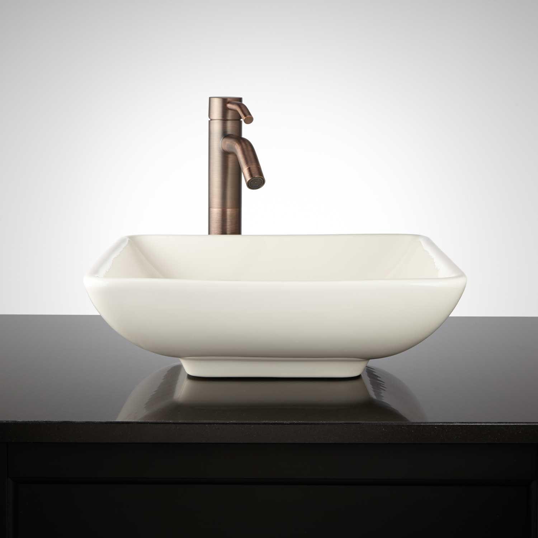 Mirach Square Porcelain Vessel Sink