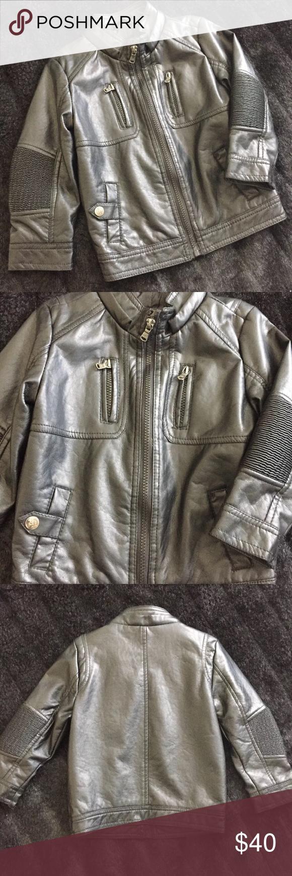 Urban Republic Faux Boy Leather Jacket Boys Leather Jacket Leather Jacket Jackets [ 1740 x 580 Pixel ]