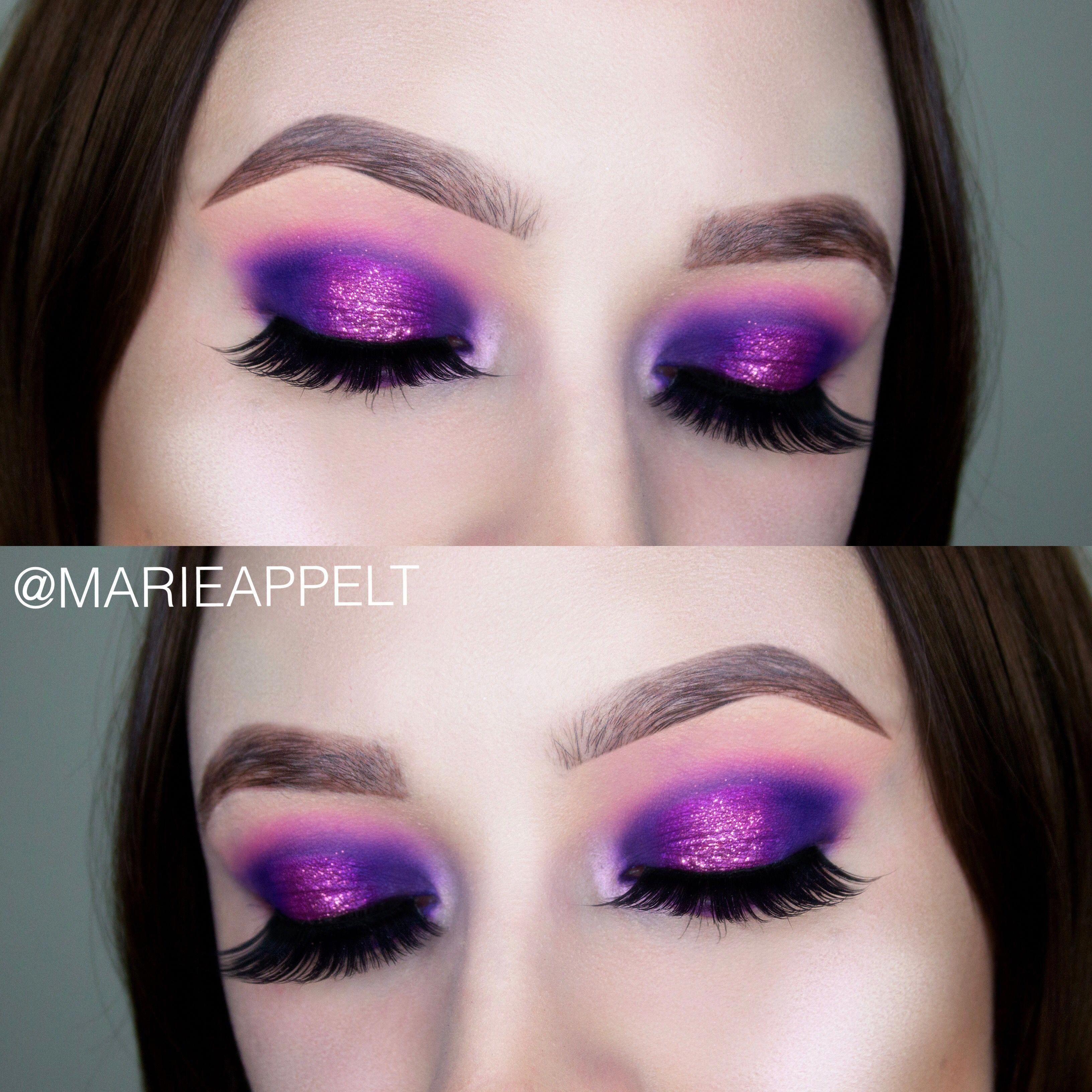 Purple Holiday Glam Purple Halo Eye Makeup Tutorial