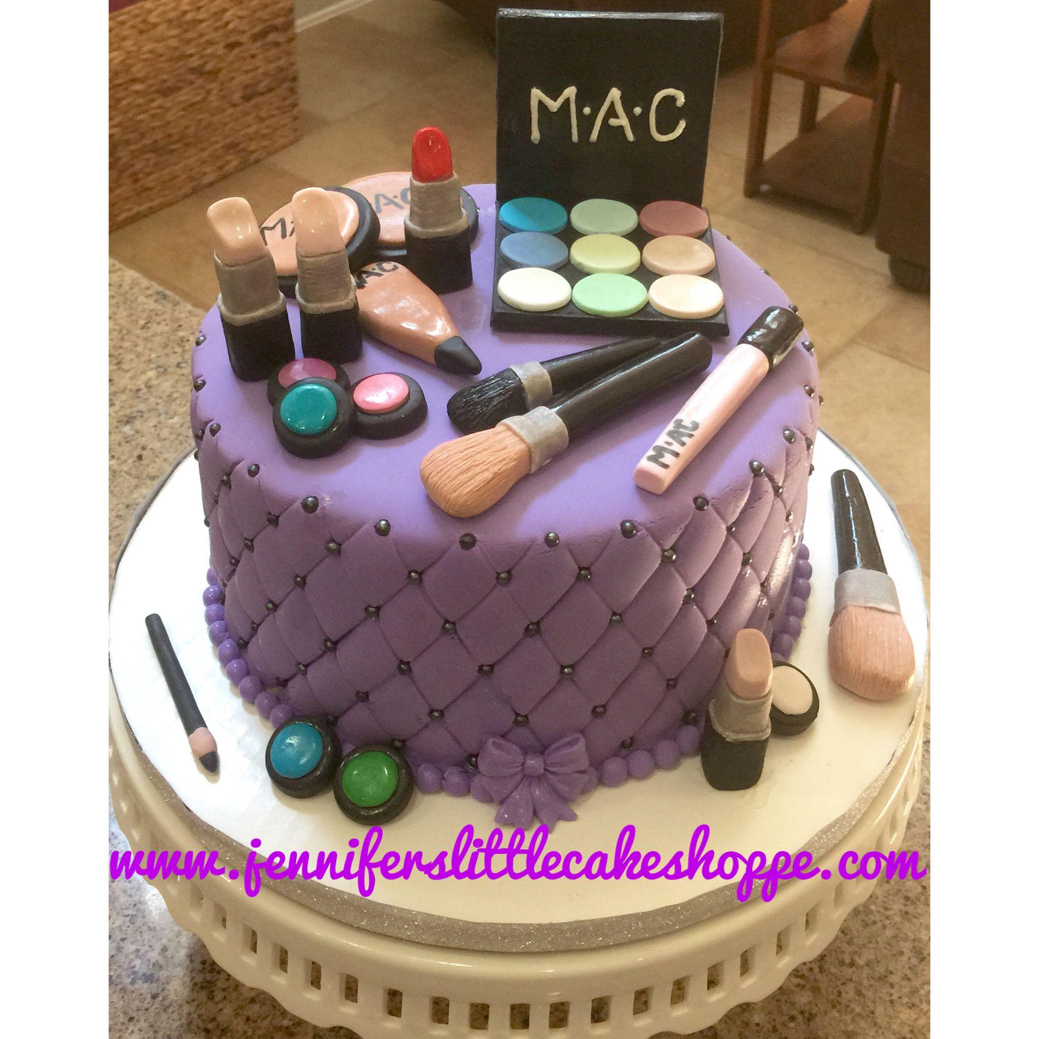 21st Birthday Mac Make-up Cake