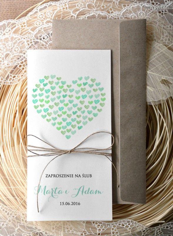 Zaproszenia Slubne Eco Chic Rusykalne Serca Akware 5246538869 Oficjalne Archiwum Allegro Wedding Invitations Invitation Design Mountain Wedding