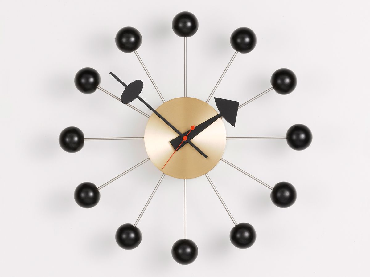 George Nelson Ball Clock In Red - hivemodern.com #mischiefmakercakes  #taubmans #bemischievious | Guest Board: Colour, Cakes & Creativity |  Pinterest ...
