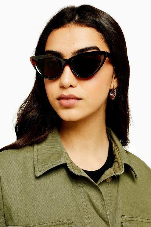 Womens Cece Brown Feline Sunglasses - Brown