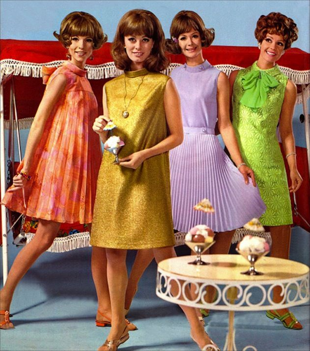 1960s pictures of dresses for a party