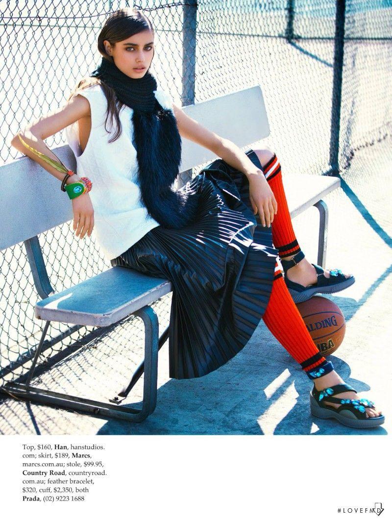 a2b826abcf46 Team Player in Elle Australia with Taylor Hill wearing Prada - Fashion  Editorial…