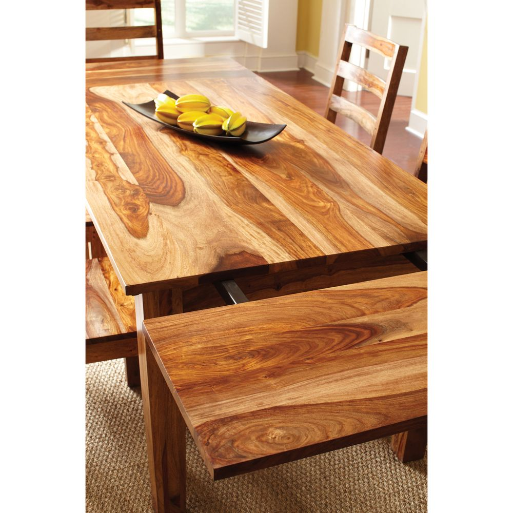 Corvallis Natural 112-inch Dining Table with Extension | Overstock.com
