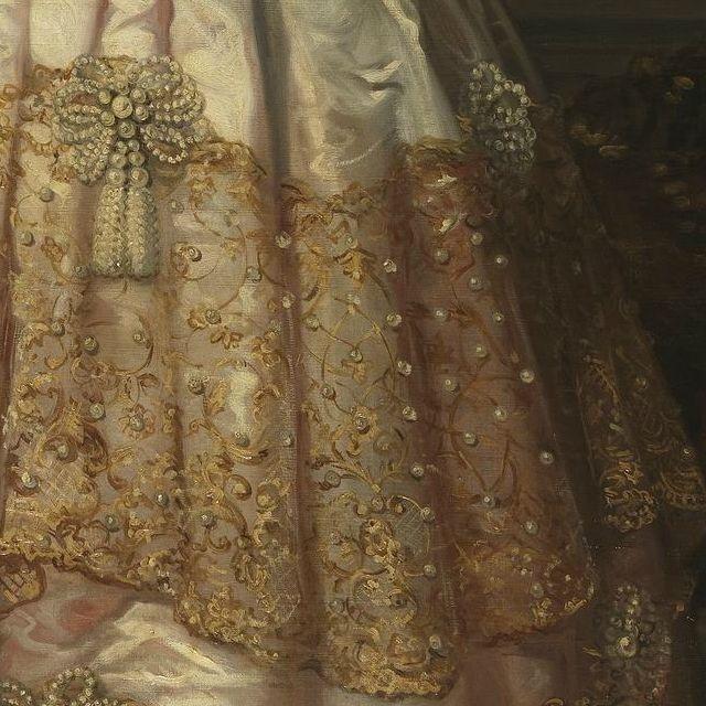 Portrait d'Isabelle II d'Espagne (Détails) Federico Madrazo y Kuntz . 1848