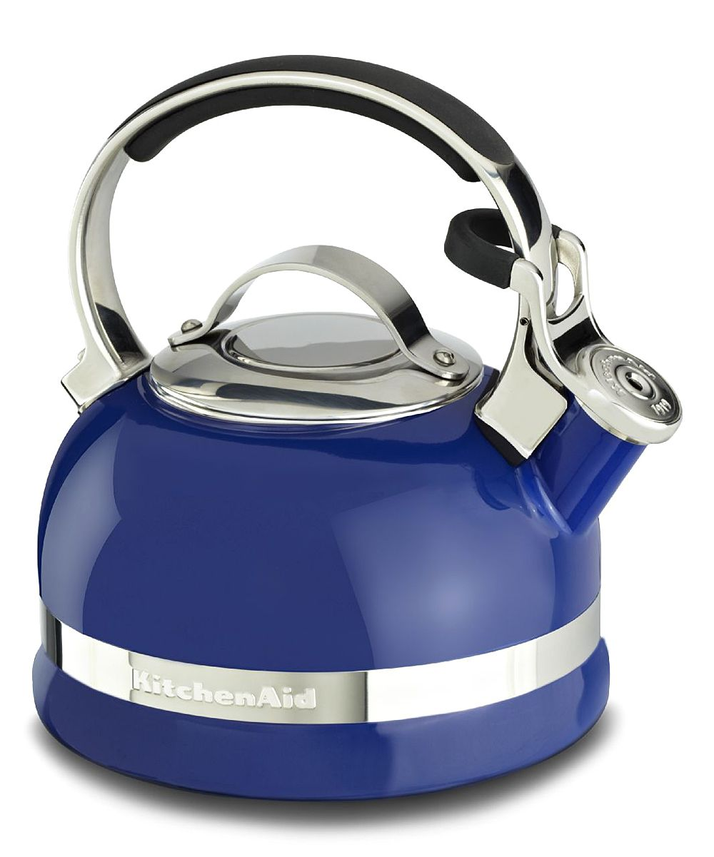 Kitchenaid Blue 2 Qt Stove Top Kettle With Full Stainless Steel Handle Zulily With Images Steel Handle Replacing Kitchen Countertops Kitchen Aid