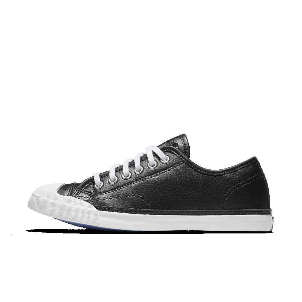 d867a61de1c0 Converse Jack Purcell LP Metallic Leather Low Top Women s Shoe Size 8.5  (Black)