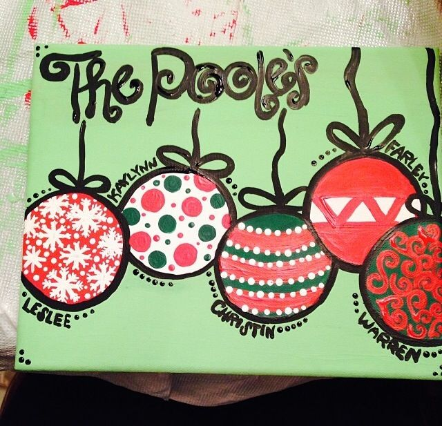 Pin By Kaylynn Poole On Paintings Diy Christmas Art Arts And Crafts Decorations