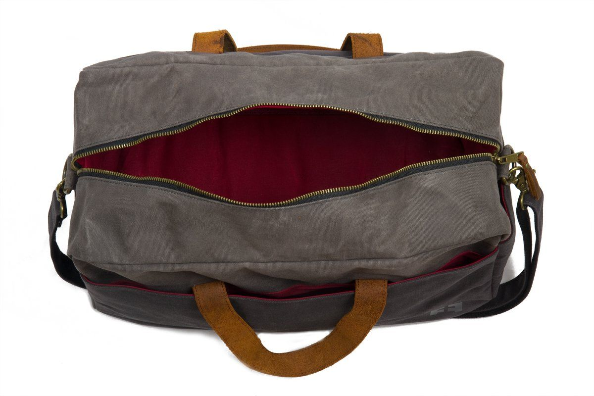ceaf4c86f9 Waxed Cotton Canvas Duffel Bag with Leather Handles the Whitman Weekender  Duffel by FAT FELT     Check out this great product. (This is an affiliate  link)   ...