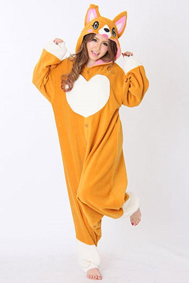 a6b10c71ce Cute adorable Corgi Kigurumi Onesie   CLOTHES   Animal pajamas ...