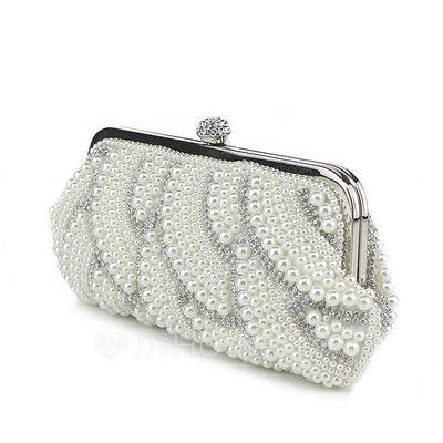 Lovely Pearl jossa Tekojalokivi Kytkimet (012047941)