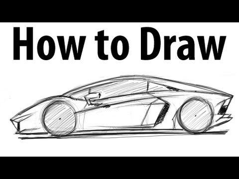 how to draw a lamborghini aventador lots of good sketching techniques on this one