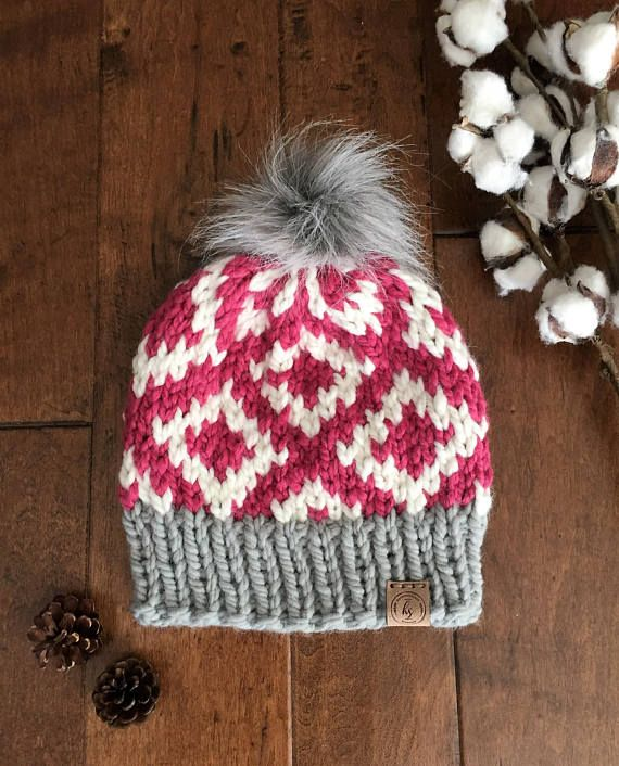 Wool Blend · Chunky knit hat in colors  Gray 4fe0094a1c53